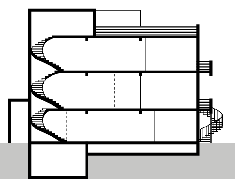 Floor plan doorsnede