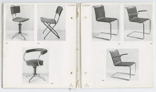 Gispen furniture catalogue. Collection Het Nieuwe Instituut