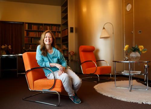 Dominique Gonzalez-Foerster. Photo Fred Ernst