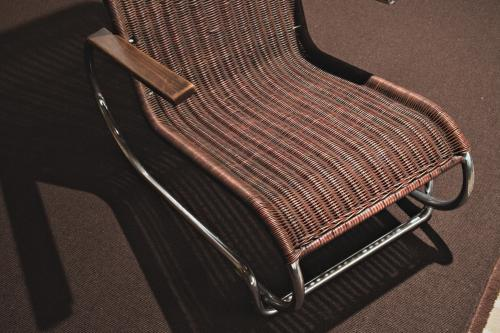 Garden chair designed by Eric Dieckmann. Photo Johannes Schwartz