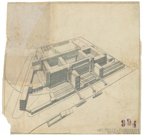 Brinkman en Van der Vlugt. Design Van Nelle factory Rotterdam, 1925-1931. Collection Het Nieuwe Instituut. BROX  5t2960