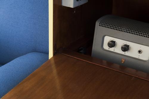 Built-in radio in the studio. Photo Petra van der Ree