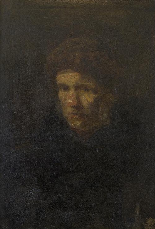 Portrait, attributed to Jozef Israëls.Collection Het Nieuwe Instituut. Loan BIHS