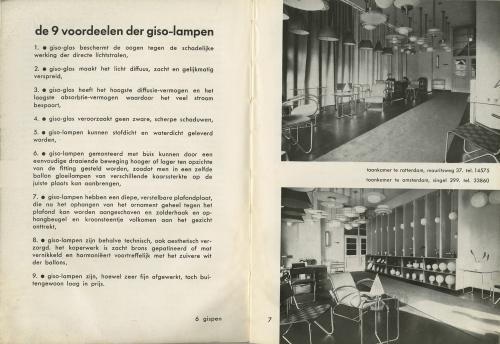 'De 9 voordeelen der giso-lampen'. Gispen catalogue. Collection Het Nieuwe Instituut