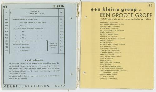 Only some of Gispen's clientele. Gispen catalogue. Collection Het Nieuwe Instituut