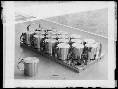 Gispen. Sputum containers for a sanatorium, date unknown. Collection Het Nieuwe Instituut, GISP n170
