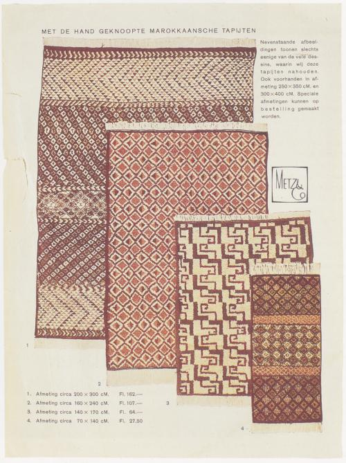 Page from the Metz & Co. catalogue