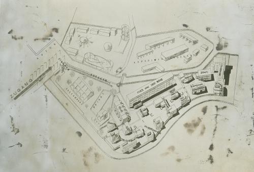 Site plan of the Weissenhofsiedlung. Collection Het Nieuwe Instituut. OUDJ ph404