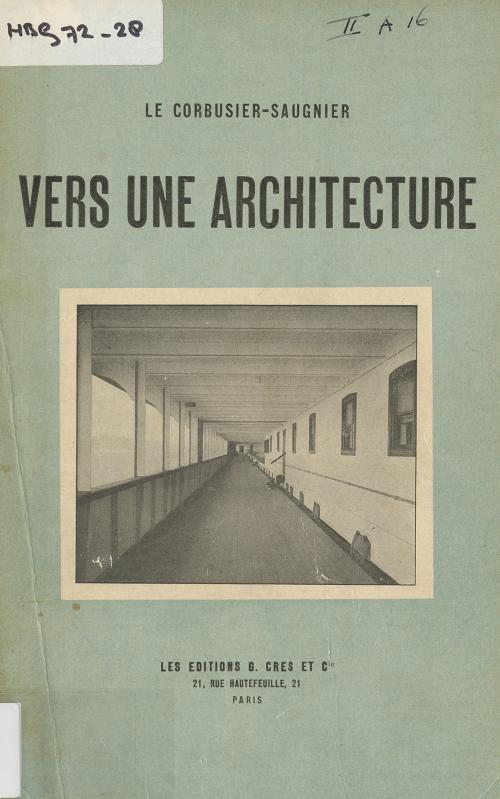 Cover 'Vers une architecture'. Collection Het Nieuwe Instituut