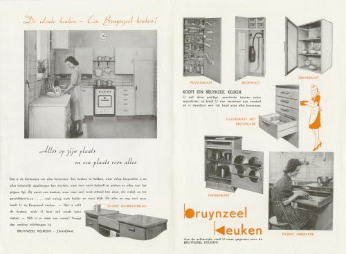 Brochure Bruynzeel kitchen. Collection Het Nieuwe Instituut